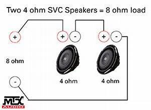 subwoofer wiring diagrams coustic car audio With 2 ohm svc wiring