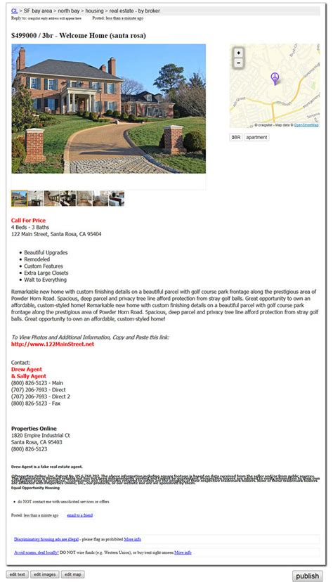 Craigslist Real Estate Template by Awesome Craigslist Ad Templates Component Resume Ideas