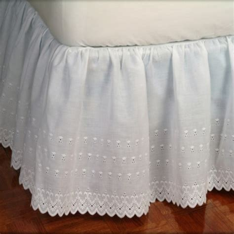 Victorian Eyelet Ruffled Bed Skirt   ShopBedding.com