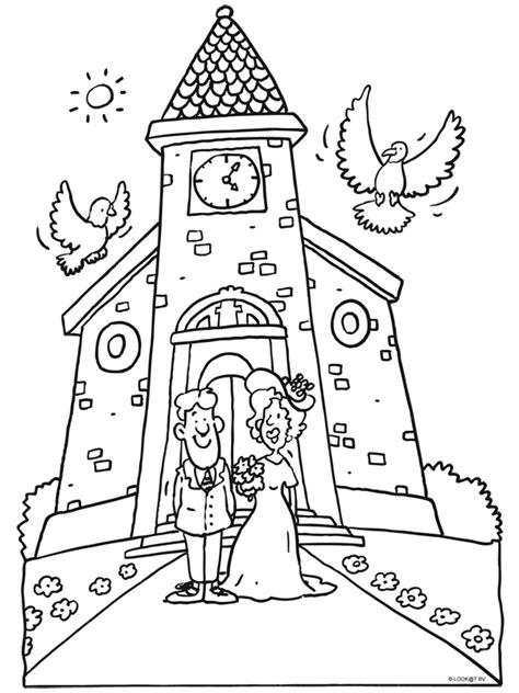 50 Jaar Huwelijk Kleurplaat by Kleurplaat Trouwen Huwelijk Bruidspaar Kleurplaten