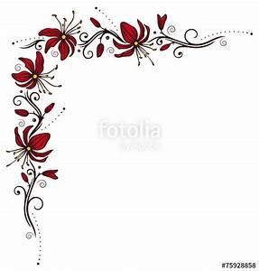 Umrandungen Vorlagen Kostenlos : ranke mit filigranen bl ten rot braun stockfotos und lizenzfreie vektoren auf ~ Orissabook.com Haus und Dekorationen