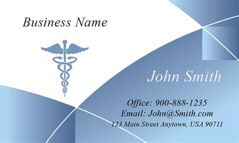 medical business cards doctor appointment cards