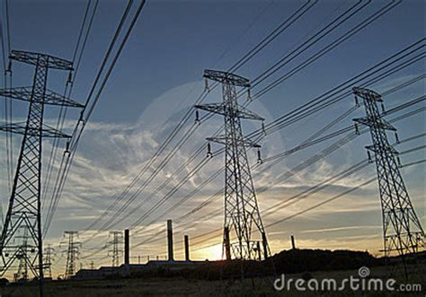high tension power royalty  stock image image