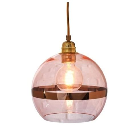 transparent blown glass ceiling pendant light in