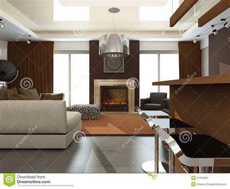 cr馘ance cuisine intérieur de salle de séjour moderne image stock image 21918691