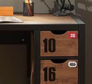 Schreibtisch 130 Cm : schreibtisch alex computertisch mit 3 schubladen 130 cm braun schwarz ebay ~ Whattoseeinmadrid.com Haus und Dekorationen