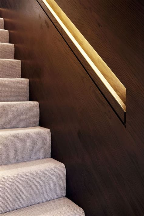 hidden handrail lighting   creative idea
