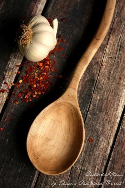 Artsy Wooden Cooking Spoon ? Old World Kitchen