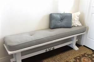Indoor Bench Cushion Entry Way Interior Home Design