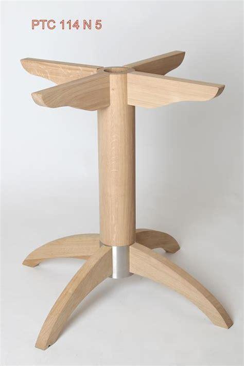 bureau en merisier pied de table central bois metal hévéa ptc114n5 pied de