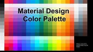Material Design Color Palette By Smallbigsquare