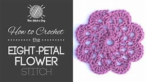 How To Crochet The Eight Petal Flower Motif    Crochet