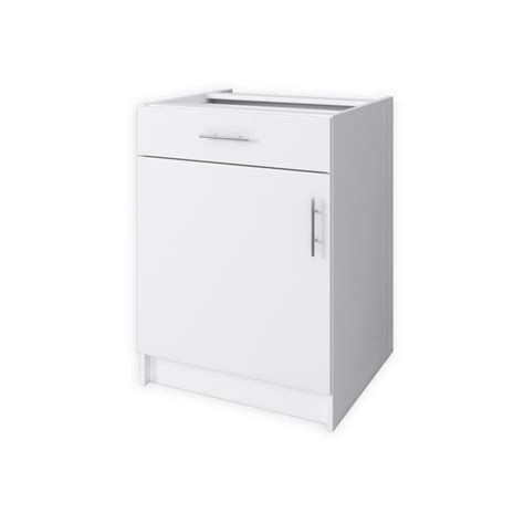 hauteur meuble bas cuisine start meuble bas de cuisine 1 porte 60 cm blanc mat