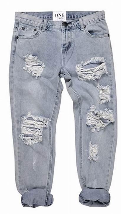 Jeans Boyfriend Low Denim Distressed Waist Wash