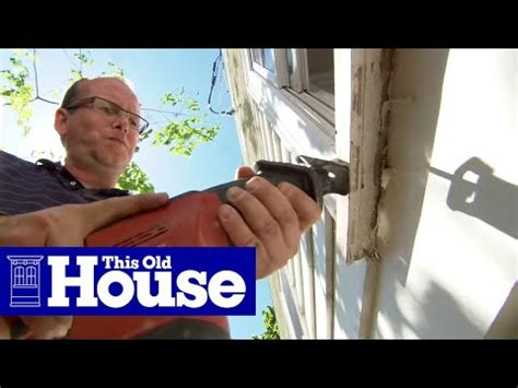 How To Frame A Window Sill by How To Replace A Rotted Windowsill