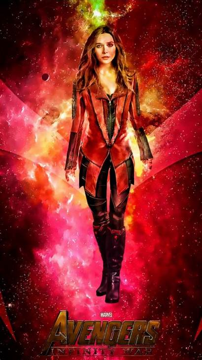 Scarlet Witch Infinity War Poster Marvel Heroes