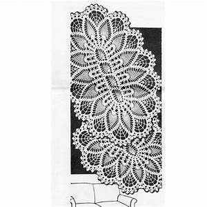 Crochet Oval Pineapple Doily Pattern Design 577