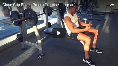 Close Grip Bench Press Exercisescomau