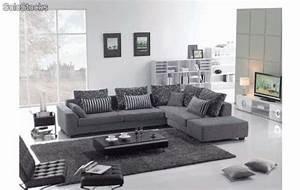 Canapé Tissu Gris : photos canap tissu gris ~ Teatrodelosmanantiales.com Idées de Décoration
