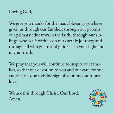 prayer   families ace  notre dame