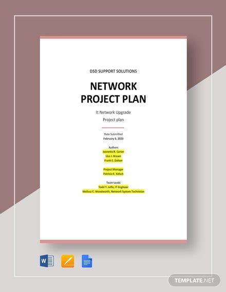 network project plan template word google docs apple