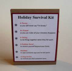 Cute Survival Kit for encouraging family friends