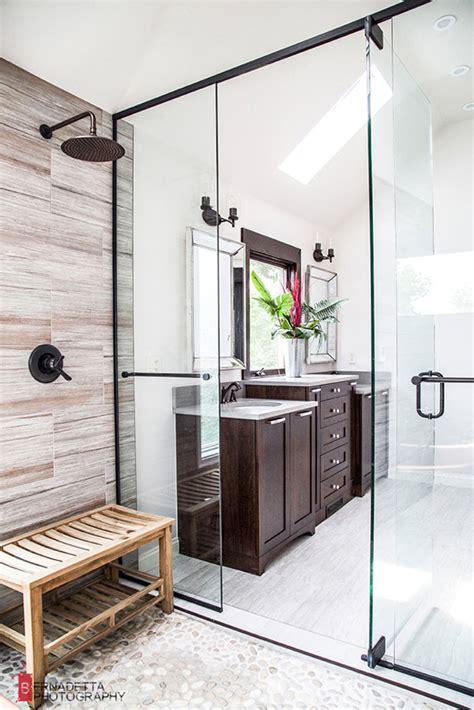 modern bathroom  rustic elements home design