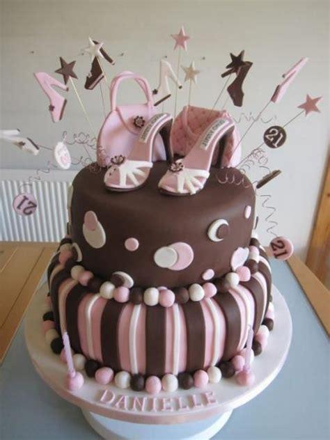 tier womens twenty  birthday cake  chocolate  pink  shoes  pursesjpg