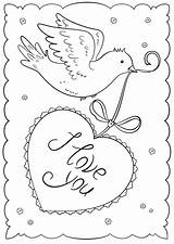 Coloring Cards Valentines Printable Card Pages Valentine Colouring Template Sorry Supercoloring Drawing Happy Crafts sketch template