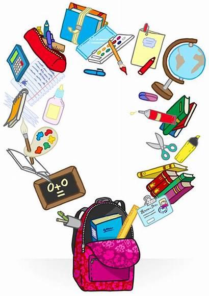 Supplies Cartoon Clipart Clip Bag Library Vector