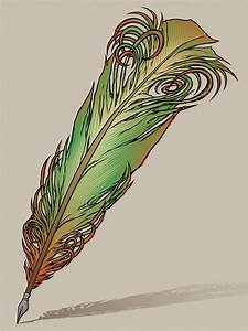 Feather Quill Pen by awolfillustrations on DeviantArt