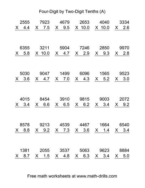 dividing decimals 6th grade math worksheets for all