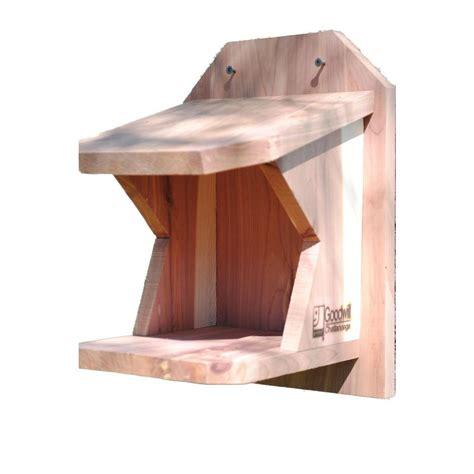 robin shelf cedar bird house 2013038rsc the home depot