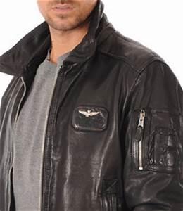 Blouson Cuir Aviateur Homme : blouson aviateur cuir noir homme aeronautica militare la ~ Dallasstarsshop.com Idées de Décoration