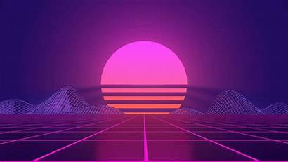 Animated Retro Synthwave Sunset Vaporwave 4k Wallpapers
