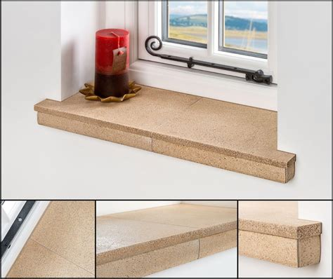 External Window Sill Board by Decstone Eliminates The End Cap Problem In An Orangery Or