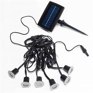 Petite Led Encastrable : spots solaires encastrables inox bleus x 6 eclairage ~ Edinachiropracticcenter.com Idées de Décoration