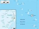 Physical Map of Tuvalu - Ezilon Maps