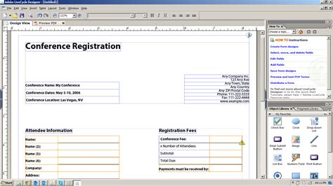 adobe livecycle designer templates can i create a pdf form that will export the questions and