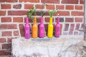 Deko Mit Flaschen : flaschen upcycling mit tafellack buntstattgrau mit bionade bunte dekoidee ~ Frokenaadalensverden.com Haus und Dekorationen