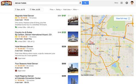 google testing new hotel finder interface