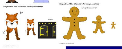 gingerbread man cut  characters sb sparklebox