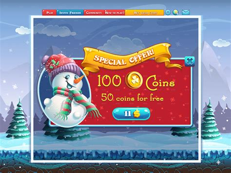 winter holidays special offer window   computer game
