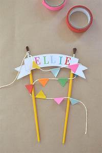 Diy cake topper with free template for Cake topper banner template
