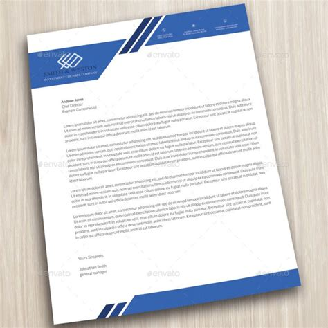 company letterhead business cor porate letter head format
