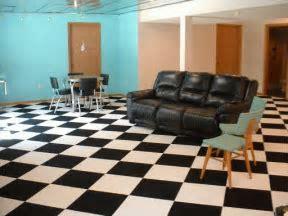 Checkerboard Carpet   Black and White Carpet tiles   Man