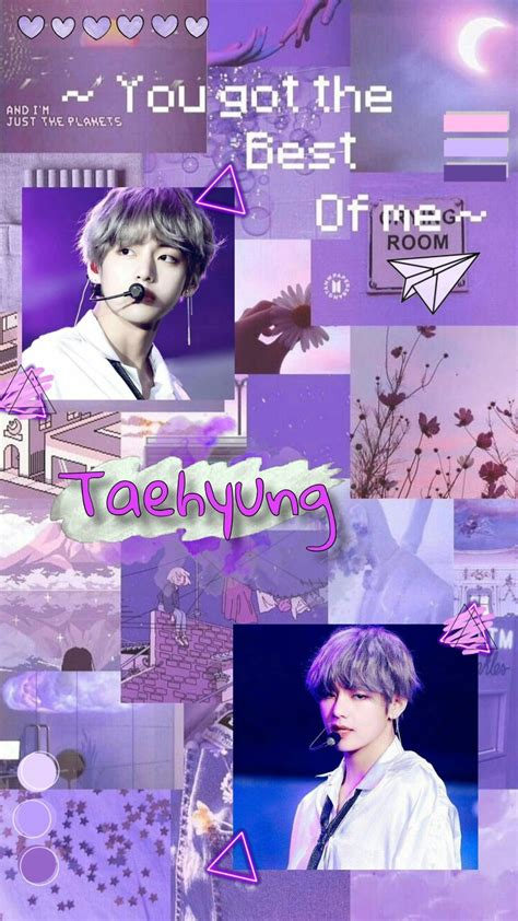 aesthetic purple bts wallpapers