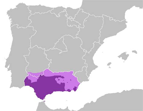andalusian spanish spain andaluz spoken wikipedia dialecto dialect area