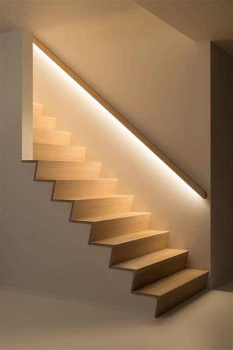 lighting lights staircase built led railing trap into cool integrate niche own