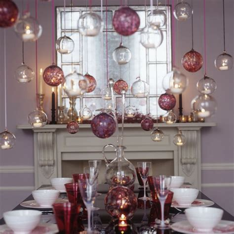 bauble table decorations traditional christmas dining room ideas housetohome co uk